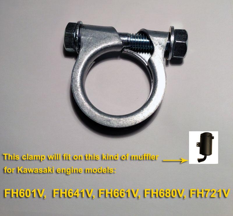 Details about MUFFLER CLAMP BAND FOR KAWASAKI 92072-7005 FH601V FH641V  FH661V FH680V FH721V
